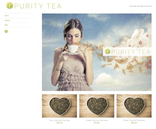 Purity Tea Website