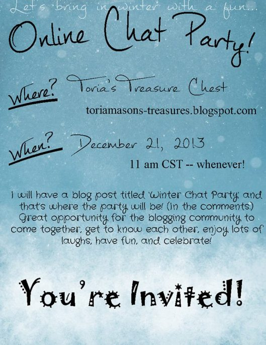 Online Chat Party at Toria's Blog.